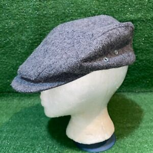 Vintage LL Bean Gray Wool Cabby Newsie Hat Union Made Textile Workers - L