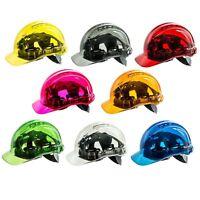 PORTWEST Peak View Hard Hat Vented Helmet See Through Translucent Safety PV50