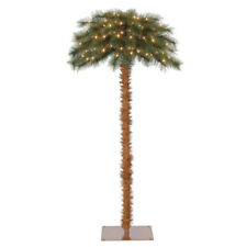 Island Breeze 5' Pre-Lit Artificial Tropical Christmas Palm Tree w/ White Lights
