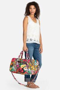 Johnny Was Quilted SANDRA NIGHT Weekender Handbag DUFFLE Duffel Flower Bag New