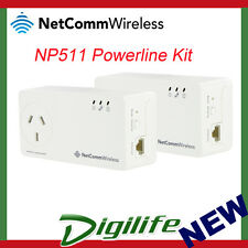 Netcomm NP511 500Mbps Powerline Kit w/ AC Pass-through slim housing