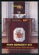 Micronesia 2015 MNH Pope Benedict XVI Final General Audience 1v S/S Stamps