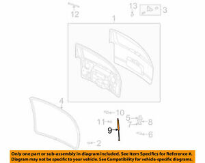 ( 1 ) GENUINE GM 15120903 STRUT - Liftgate RH Fits 2002-2009 Trailblazer, Envoy