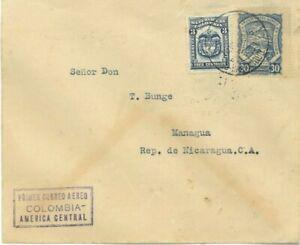 COLOMBIA - NICARAGUA - SCADTA - SURVEY FLIGHT - B/QUILLA TO MANAGUA - 1925 RRR