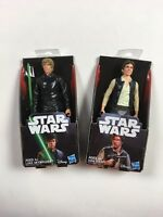 "DISNEY STAR WARS (LOT OF 2) - LUKE SKYWALKER & HAN SOLO 5.5"" Figures by Hasbro"