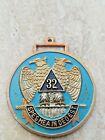 Scottish Rite Masonic Organization Watch Key Fob  SPES MEA IN DEO EST