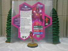 Heroscape Custom Star Sapphire Carol Ferris Dbl Sided Card & Figure w/ Sleeve DC