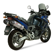 Mivv Honda Xl 1000 Varadero 2005 Terminale Scarico Oval Titanio Carbon Cap Moto