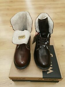 Men's Wrangler Fur Lined Aviator Boots Sizes 7, 8, 9, 10,11 & 12