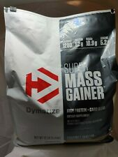 Dymatize SUPER MASS GAINER Whey Muscle Protein BCAA Creatine 12 lbs