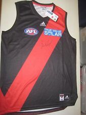 ESSENDON - BRENDON GODDARD SIGNED ADIDAS JERSEY UNFRAMED + PHOTO PROOF