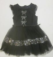 Girls dress party ex store NEXT age 3 4 5 6 7 8 9 10 11 12 years black