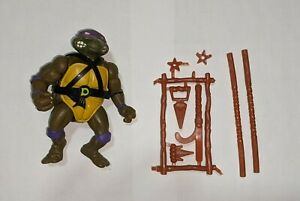 Vintage TMNT Teenage Mutant Ninja Turtles 1988 Donatello with Accessories