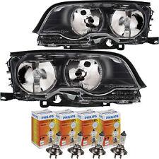 Scheinwerfer Set schwarz für BMW 3er E46 Bj. 99-01 Coupe/Cabrio H7+H7+Motoren
