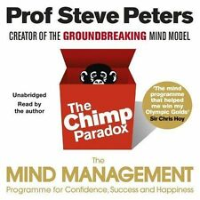 THE CHIMP PARADOX CD AUDIOBOOK STEVE PETERS MIND MANAGEMENT NEW SEALED FREE POST