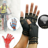 Arthritis Gloves Fingerless Copper Compression Wrist Hand Support Pain Relief