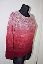 NEU MIT ETIKETT ZERO Pullover Größe 34 XS Rot Weiß Ombre Farbverlauf Strick