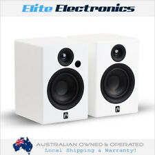 APERION ALLAIRE BLUETOOTH BOOKSHELF POWERED SPEAKERS PURE WHITE PAIR AUDIOPHILE