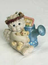Dreamsicles 2003 Ceramic Cherub Angel Sitting with Watering Can