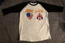 Def Leppard Journey 2018 Tour Tshirt Mens Sz L Baseball Style 3/4 Sleeves New