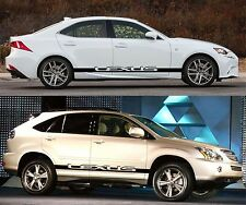 lexus IS CT GS LS NX RC SC side stripes decals stickers graphics 2 off