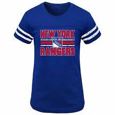 Nwt Nhl New York Rangers Girls Netminder Fashion T-Shirt - Medium