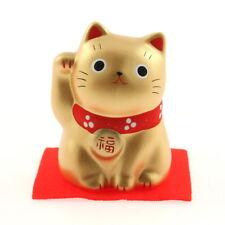 """1x Japanese 2-1/4""""H Gold Cat-PROSPERITY Maneki Neko #590-184"""