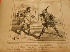 Litho 1850 Le Roi de Prusse et le Boursicoteur