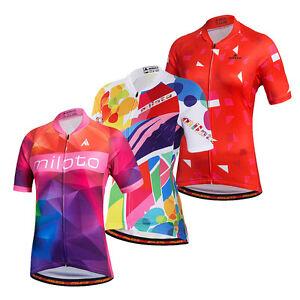 Women's Cycling Jersey Full Zip Reflective Ladies Bike Cycle Jersey Shirt Tops