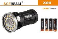 New AceBeam X80 12x Cree XHP50.2 25000 Lumens 6000K LED Flashlight ( 4x 18650 )