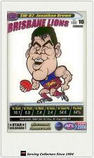 2006 AFL Teamcoach Card Star Wild Card SW2 Jonathan Brown (Brisbane)