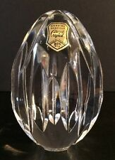 """NWT Cut Crystal Egg Vertical Lines Design 4-1/2 Tall x 3"""" Wide Made In Poland"""