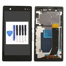 Black For Sony Xperia Z L36H LT36i C6602 C6603 LCD Screen Touch Digitizer Frame