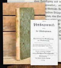 1778 Physiognomik und Satire Lichtenberg Ueber Physiognomik
