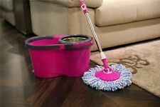 Microfiber Spin Mop with Bucket and two mop heads NEW - Pink