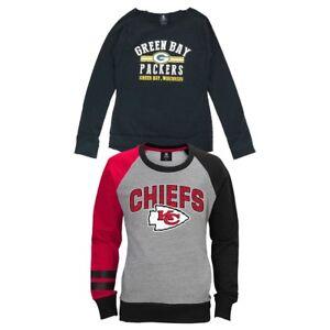 NFL Team Long Sleeve Crewneck Fleece Sweatshirt Collection Girls Youth (S-XL)