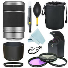 Sony E 55-210mm F4.5-6.3 Lens for Sony E-Mount Silver+ Filter Kit+ Accessory Kit