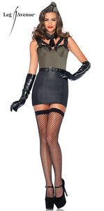 Major Bombshell Sexy Army Costume for Women sizes S & L New by Leg Avenue 85300