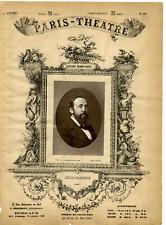 Lemercier, Paris Theatre, Jules Claretie vintage print Photoglyptie  9x13