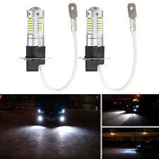 2Pcs Metal H3-4014-30SMD 20W 6000K White 1100LM Car Fog Light LED Lamp Bulb fr