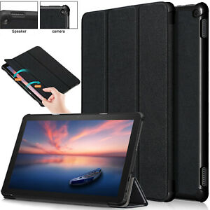 Leather Smart Stand Case Slim Magnetic Cover For Amazon Fire HD 10 2021 11th Gen