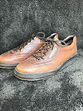 Mephisto Walking Shoes Brown Leather Sz 11 Air Bag Runoff System 147