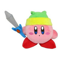 "NEW 4"" Sword Kirby Stuffed Plush Doll - KP09 - Sanei Kirby Dream Land All Star"