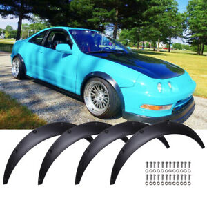 """For Acura Integra 4PCS 4.5"""" 35"""" Fender Flares Wheel Arches Extra Wide Body Kit"""