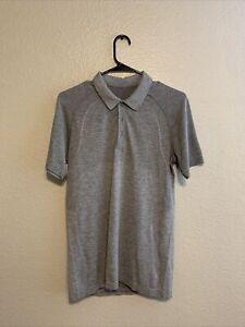 Men's Lululemon Metal Vent Tech 2.0 Polo T-Shirt Size Small S Gray