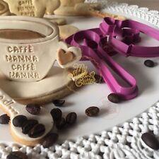 Festa Mamma Tazza Caffè 3D Love Cucchiaio Formina Biscotti Cookie Cutter