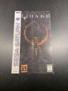 Quake Instruction Manual Sega Saturn *Manual Only* No Game