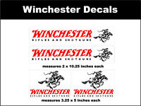 Winchester Firearms Decal Set - rifle shotgun ammo hunting gun