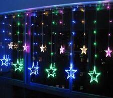 Twinkling LED Stars Christmas String Light Window Fairy Lamp Party Decoration UK