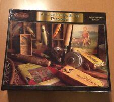 Cedar Key 500 Piece Puzzle Antique Fishing Series